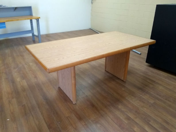 BOARDROOM TABLE 72 X 36 MEDIUM OAK LAMINATE
