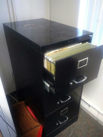 3 DRAWER LEGAL FILE WITH LOCK - BLACK